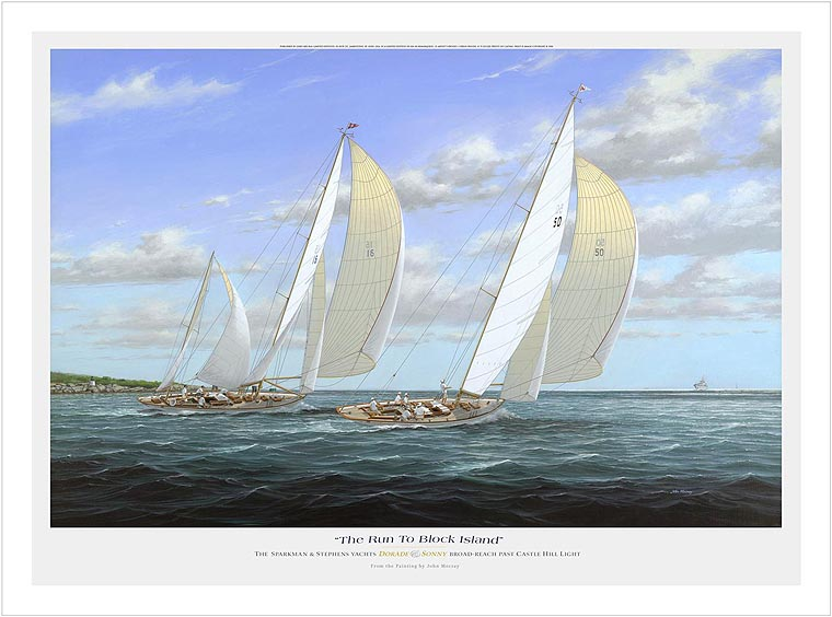 THE RUN TO BLOCK ISLAND By JOHN MECRAY