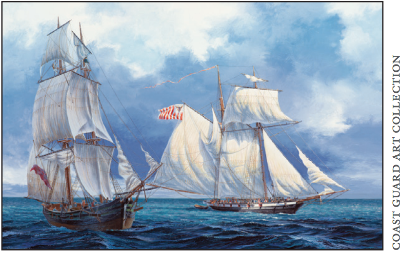 painting of ships
