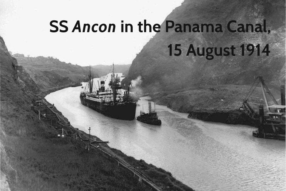USS Ancon Panama Canal 1914