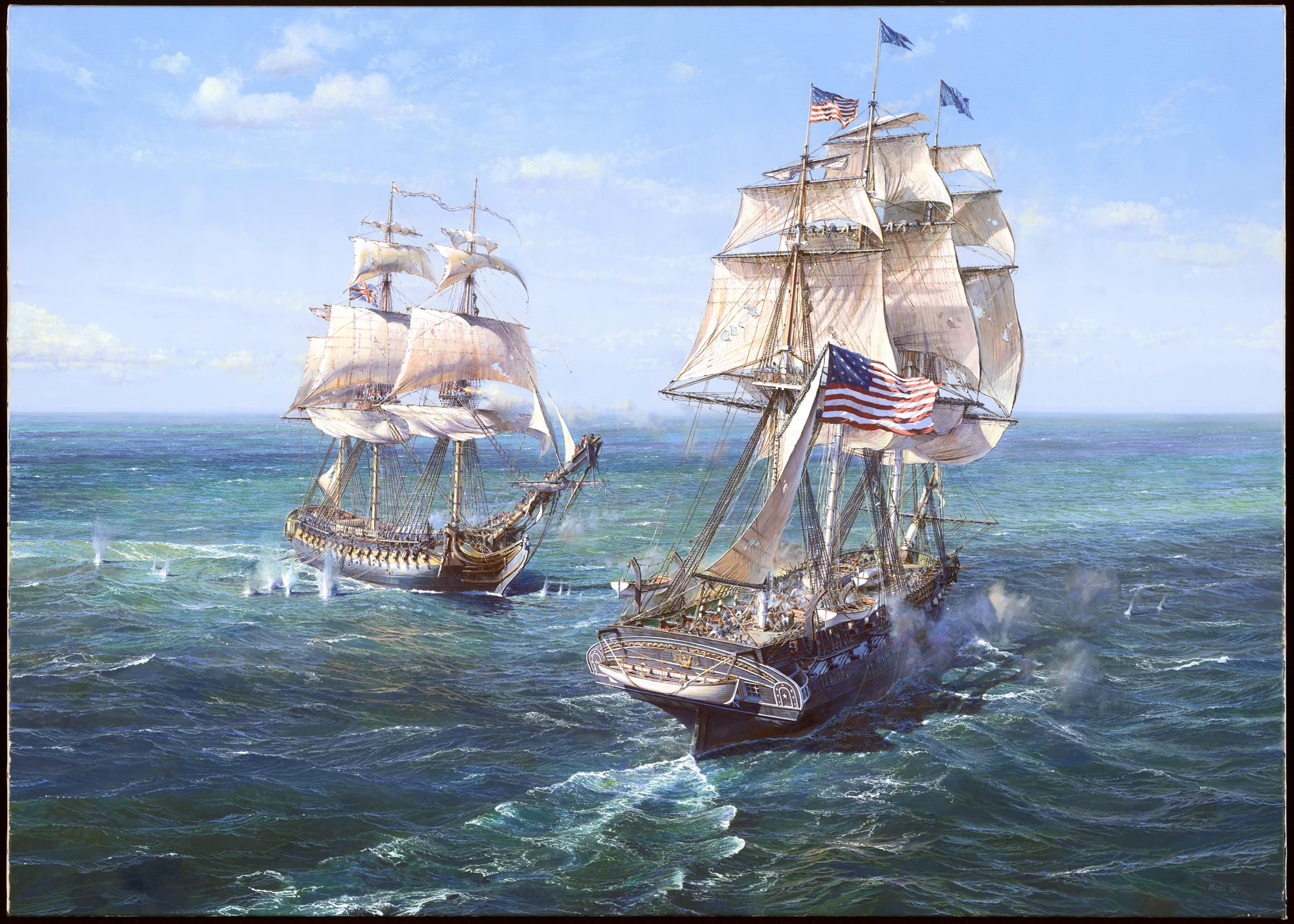 USS Constitution Vs HMS Java