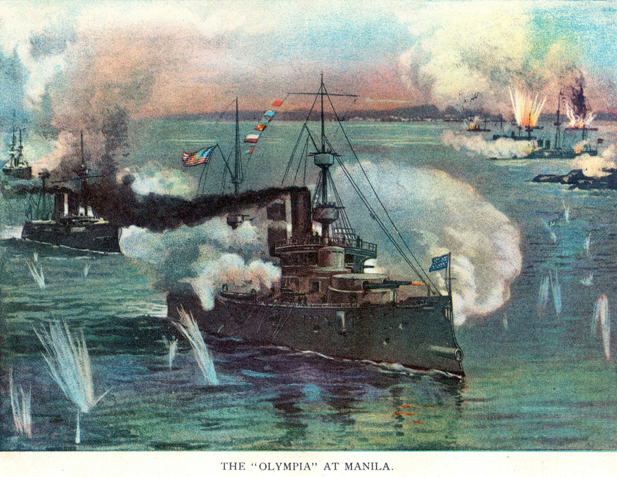 USS Olympia Battle Of Manila Postcard