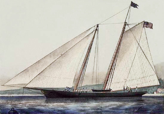 Yacht America, By Currier