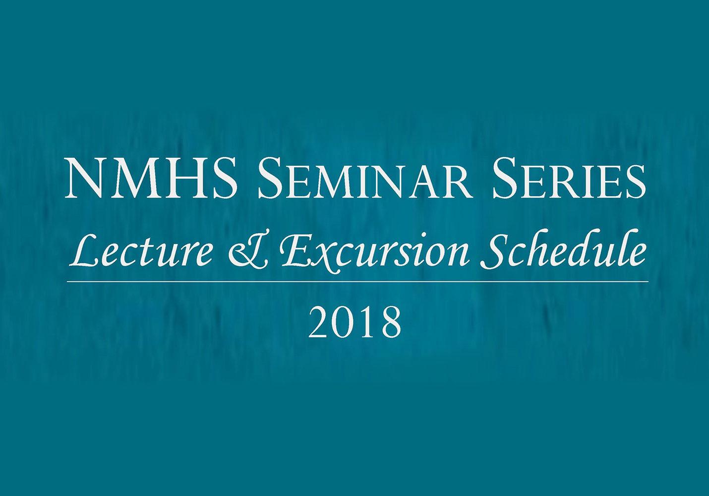 2018 Seminar Schedule