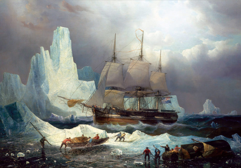 HMS Erebus in the Ice, 1846, by François Étienne Musin