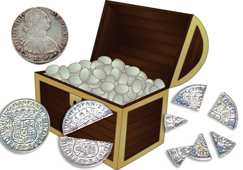 Pieces Of Eight Treasure Chest Clip Art