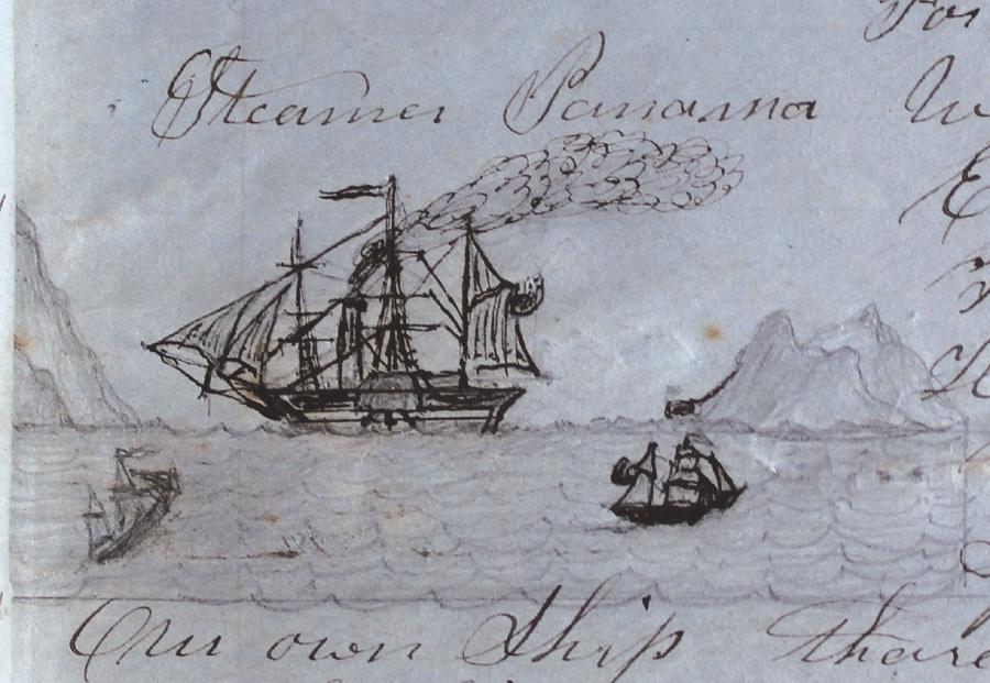 Drawing: Steamer Panama