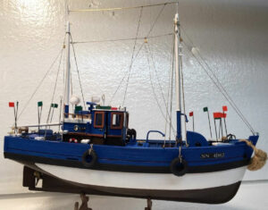 Model fishing boat