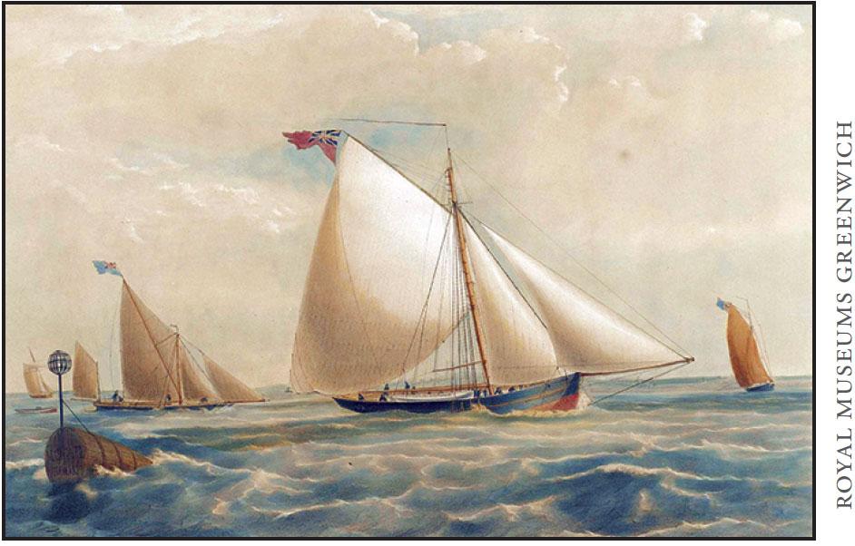 Painting Of British Ships