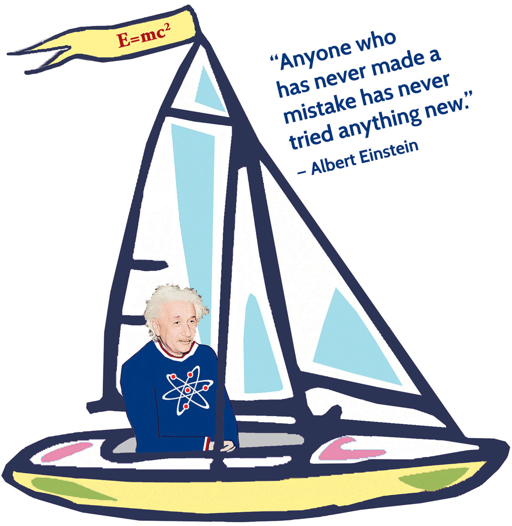 Sailboat Albert Einstein